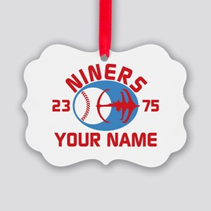 YOUR NAME Niners Baseball Star Trek DS9 Ornament