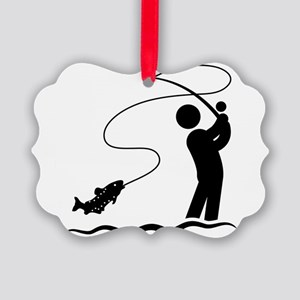 Fly-Fishing-AAA1 Picture Ornament
