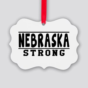 Nebraska Strong Designs Picture Ornament
