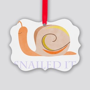 Snailed It Picture Ornament