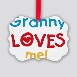 Granny Loves Me Picture Ornament