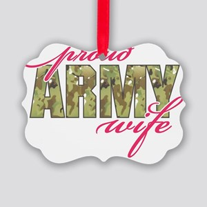 army wife multi cam Picture Ornament