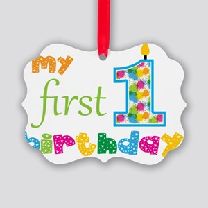 First Birthday Picture Ornament