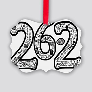 26.2 hand written Picture Ornament