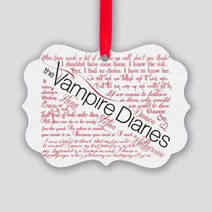 The Vampire Diaries quotes Picture Ornament