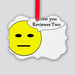 Screw you - smiley Picture Ornament
