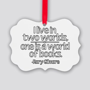 A World of Books Ornament
