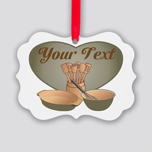 Cook or Chef Personalized Herb Gr Picture Ornament