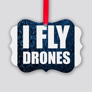 I Fly Drones Ornament