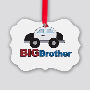 Police Car Big Brother Picture Ornament