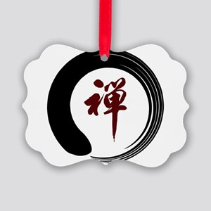 Zen Namaste Circle Meditation Pra Picture Ornament