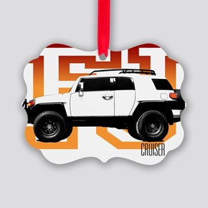 fj cruiser red-orange Picture Ornament