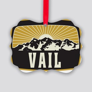 Vail Sunshine Patch Picture Ornament