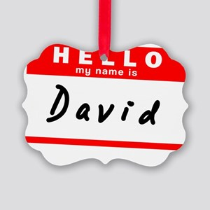 David Picture Ornament