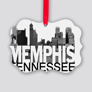 Memphis Skyline Picture Ornament