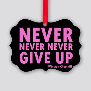 NeverGiveUp9 Picture Ornament