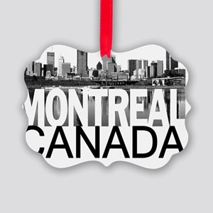 Montreal Skyline Picture Ornament