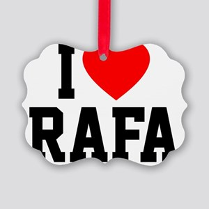 Heart Rafa Picture Ornament