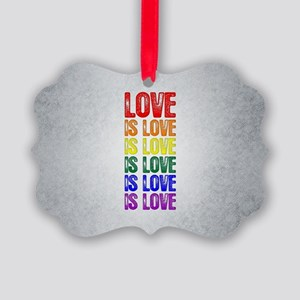 Love is Love is Love Picture Ornament