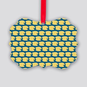 Luke's Diner Logo Pattern Picture Ornament