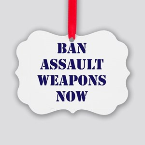 Ban Assault Weapons Now Picture Ornament