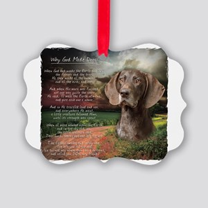 godmadedogs2 Picture Ornament