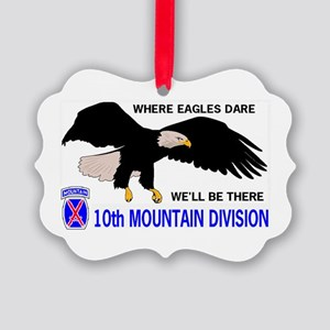 10th MOUNTAIN DIVISION EAGLES Picture Ornament