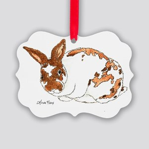 Adoptable Mini Rex Bunny Picture Ornament