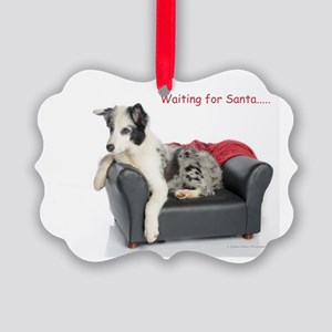 Waiting for Santa Picture Ornament