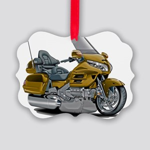 Goldwing Gold Bike Picture Ornament