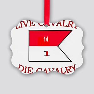 1st Squadron 14th Cavalry cap4 Picture Ornament