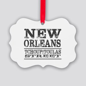 New Orleans Tchoupitoulas Street Picture Ornament