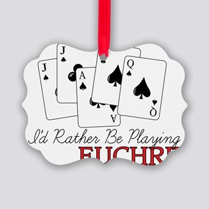 Euchre Playing Picture Ornament