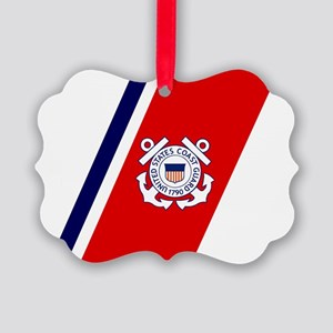USCG-Racing-Stripe-... Picture Ornament