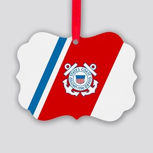 2-USCG-Racing-Stripe Picture Ornament