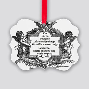 Ukulele Benediction Picture Ornament