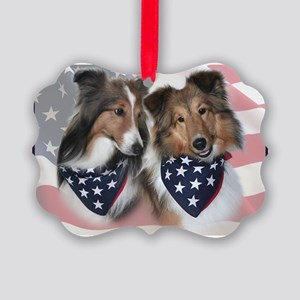 Shelties Picture Ornament