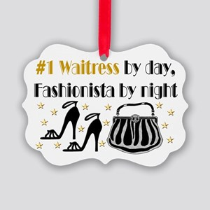 WAITRESS DIVA Picture Ornament