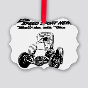 Vintage NSSN  Sprint Car Logo Picture Ornament
