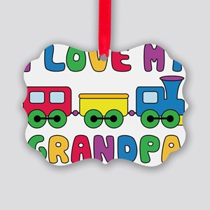 LoveGrandpaTrain Picture Ornament