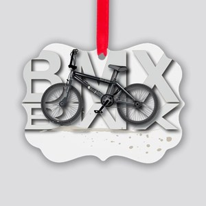 BMX Bike Design Picture Ornament