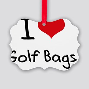 I Love Golf Bags Picture Ornament
