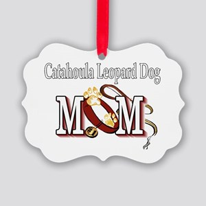 Catahoula Leopard Dog Mom Picture Ornament