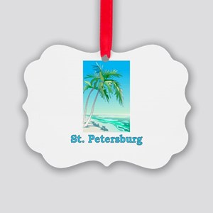 stpetersburgltblwht Picture Ornament