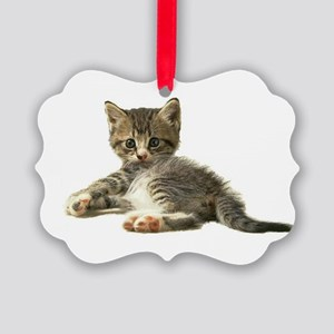 kitten surprised2 Picture Ornament