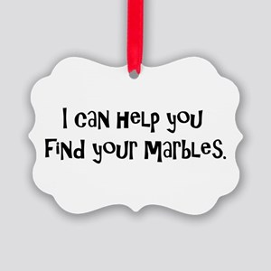 find marbles Picture Ornament