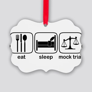 eat sleep mock copy Picture Ornament