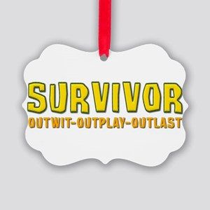 Survivor1 Picture Ornament