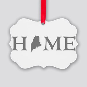 Maine Home State Picture Ornament