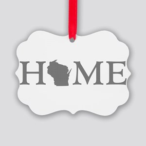 Wisconsin Home State Picture Ornament